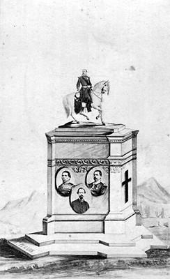 Monumento a Maximiliano de Habsburgo y colaboradores, tarjeta de visita