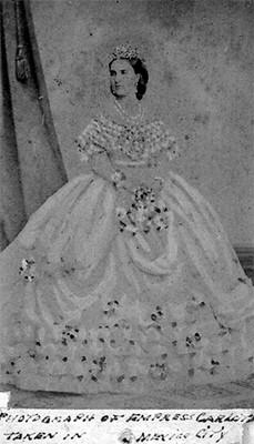 Carlota Amalia de Habsburgo, tarjeta de visita