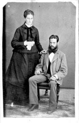 Pareja de hombre y mujer, retrato
