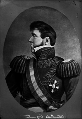 Agustín de Iturbide, emperador de México, pintura de caballete, retrato