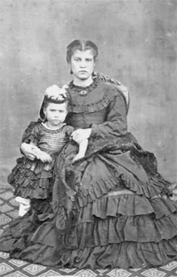 Mujer y niña, retrato