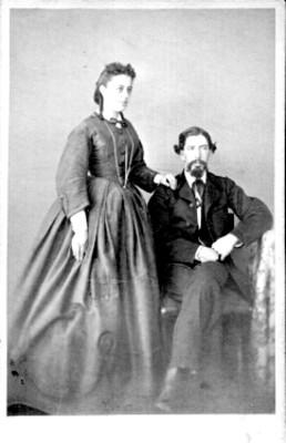 Retrato, pareja de hombre y mujer