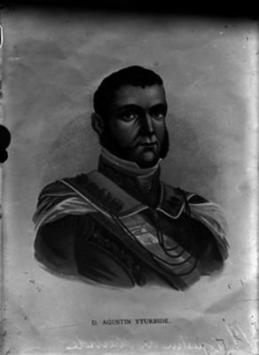Agustín de Iturbide, emperador de México, litografía