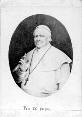 Pío IX, tarjeta de visita