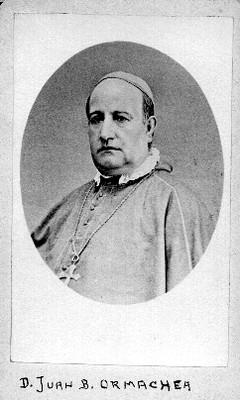 """D. Juan B. Ormachea"", obispo de Tulancingo, tarjeta de visita"