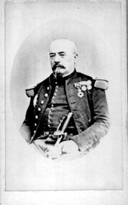 """""""Francisco Aquiles Bazaine"""", militar, tarjeta de visita"""
