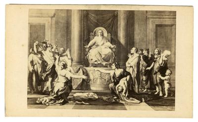"""El juicio de Salomón, """"Le jugement de Salomon"""" de Nicolas Poussin, reprografía"""