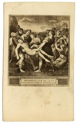 El entierro de Cristo de Rafael Sanzio, reprografía