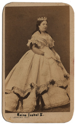 """""""Reina Isabel ll [de Borbón]"""", tarjeta de visita"""