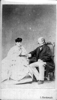 El Conde de Bismark y la Cantatriz Señora Lucca