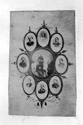 Alegoria con retratos de personajes del Imperio de Maximiliano