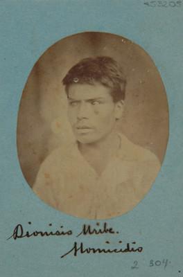 Dionisio Uribe. Homicidio, retrato
