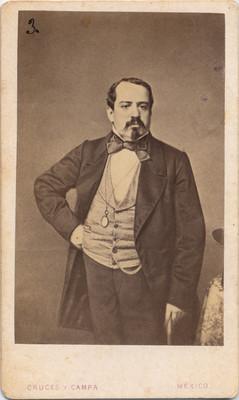 Manuel Robles Pezuela, militar, tarjeta de visita