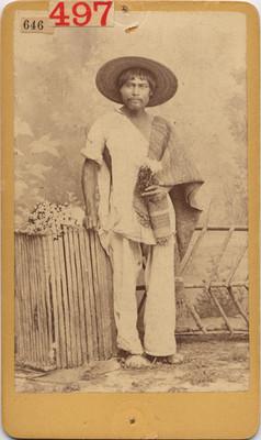 Vendedor de flores de San Juan, retrato