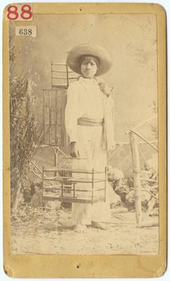 Vendedor de jaulas, retrato