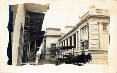 """Aduana, V[era]cruz"", vista parcial, tarjeta postal"