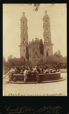 "Iglesia y fuente de Guadalupe, ""Church and fountain of Guadalupe"""