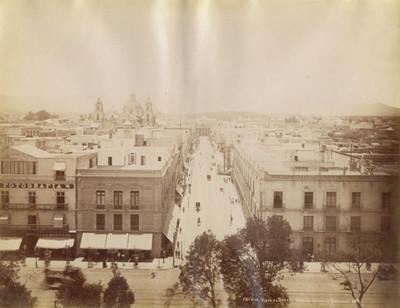 México, vista al Oeste tomada desde la Catedral