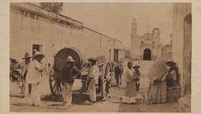 """Una escena de la calle en Ixtacalco, """"6449. A street scene in Ixtacalco"""""""