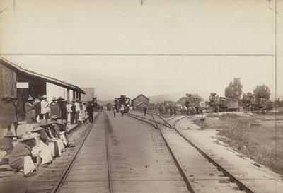 Vista de una estación de ferrocarril