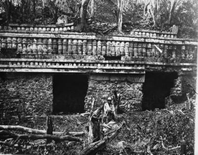 Grupo de Chacmultún, Cabal Pak, fachada norte del primer cuerpo
