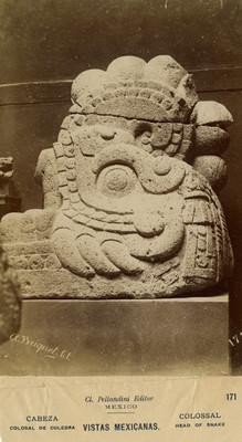 Escultura mexica conocida como Xiuhcóatl