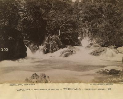 Cascadas -Alrededorez [sic] de Orizaba. Waterfalls- Environs of Orizaba