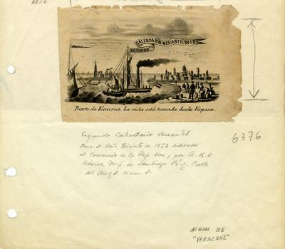 Puerto de Veracruz. La vista está tomada desde Vergara