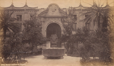 """México, Patio del Antiguo Museo Nacional, """"3287. México. Court of the Museum"""""""