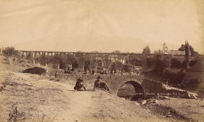 """""""No. 417. Puente de Ozumba F.C.I."""", vista parcial"""