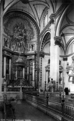 "Iglesia de Guadalupe, interior, ""5609. Church of Guadalupe, interior"""