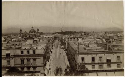 Vista panorámica de México tomada desde la Catedral
