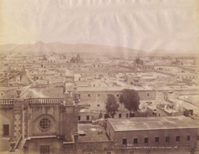 Vista al norte [de México] tomada desde la Catedral