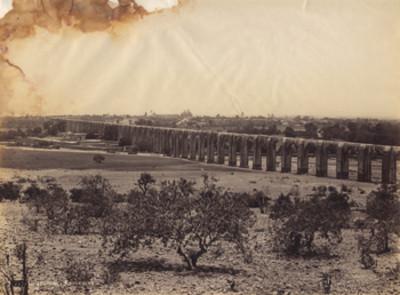 """""""733. Querétaro y Acueducto"""", paisaje"""