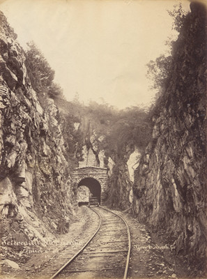 """Ferrocarril Mexicano"""", vista del """"Túnel n° 16"""