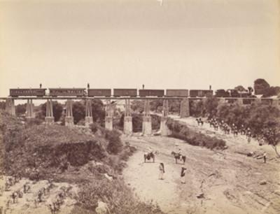 """""""Ferrocarril Interoceánico"""" [sobre el] """"puente de"""" Ozumba"""