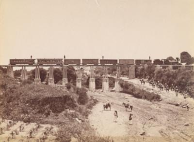 """""""Ferrocarril Interoceánico"""" [sobre el] """"puente de Ozumba"""""""