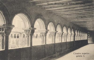 """""""Santo Domingo de Silos, (Burgos). Claustro superior, galería S."""", tarjeta postal"""