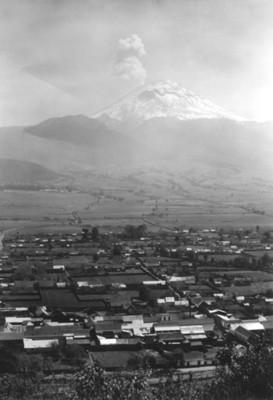El popocatépetl, desde el Sacro Monte