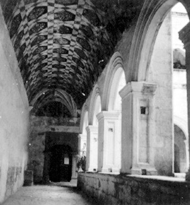 Corredor del claustro del conevento de Metztitlán
