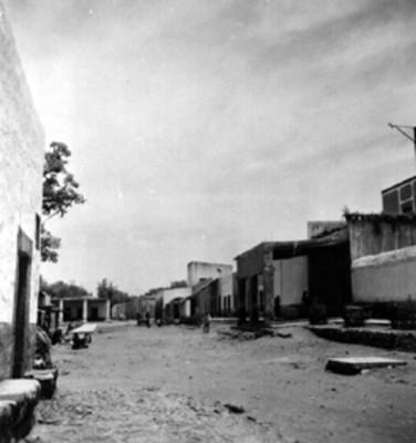 Perspectiva de una calle de Alfajayucan