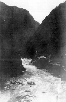 Vista parcial de una mina en la barranca del cobre