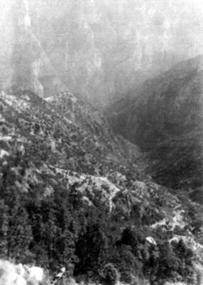 Vista parcial de la Barranca del Cobre