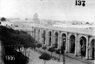 Fachada de los portales de Saltillo