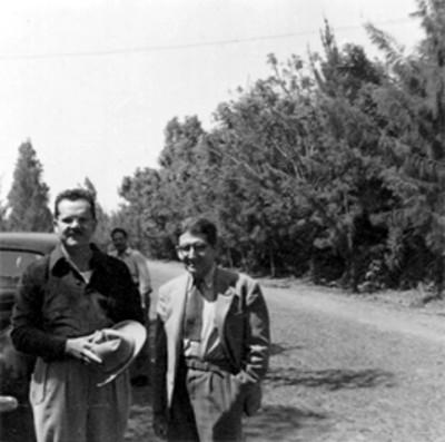 Felipe Teixidor acompañado de Buenrostro