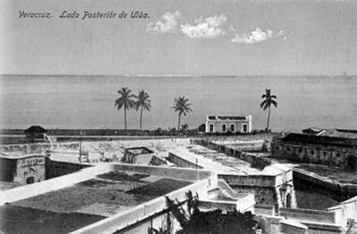 """Vista posterior del fuerte de San Juan de""""Ulúa"""""""