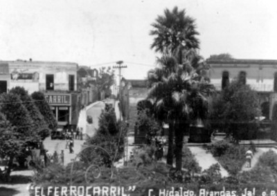 Plaza principal de Arandas Jalisco, vista parcial