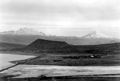 Volcánes Iztaccíhuatl y Popocatépetl, panorámica