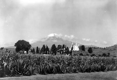 Volcán Popocatépetl, paisaje