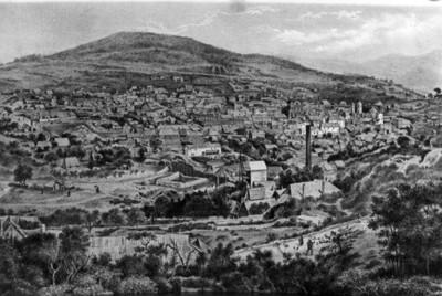 Litografía de Pachuca, detalle